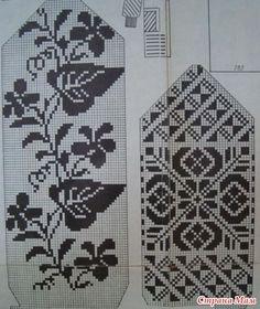 New Ideas knitting mittens pattern flower Knitted Mittens Pattern, Fair Isle Knitting Patterns, Knit Mittens, Knitting Charts, Knitting Stitches, Hand Knitting, Filet Crochet, Crochet Chart, Stitch Patterns