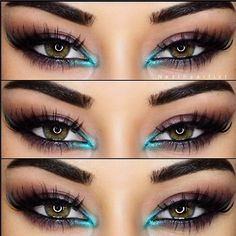 Love the turquoise (or aqua) around tear duct/ inner corner of eye! Perfect for summer!
