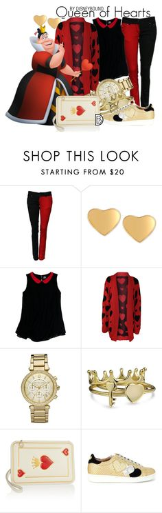 """""""Queen of Hearts"""" by leslieakay ❤ liked on Polyvore featuring T Tahari, Slater Zorn, WearAll, Michael Kors, Bling Jewelry, Charlotte Olympia, Twin-Set, disney, disneybound and plus size clothing"""