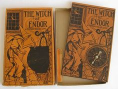Vintage Halloween Game ~ The Witch of Endor Fortune Telling Game Board w/ Original Box * Circa, 1920's