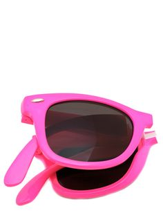 These adorable wayfarer sunglasses not only look amazing with everything, but they will actually fit in your pocket.