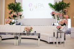WIPA June 2012 Meeting -- The Art of Photography at the Pacific Club.  Florals by White Lilac and lounge furniture by Hire Elegance (photo by Jasmine Star Photography).
