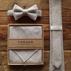 Seersucker bow tie.