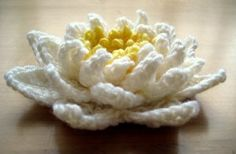 Seamless crocheted water lily ~ free pattern ᛡ