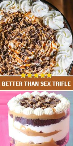 This chocolate, caramel and whipped cream trifle topped with chopped Mars bars will give you all the feels in all the places. Baking Recipes, Cake Recipes, Dessert Recipes, Trifle Recipe, Pie Dessert, Cupcake Cakes, Cupcakes, Holiday Baking, No Bake Desserts