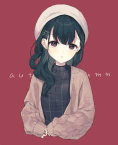Anime Girl Cute, Kawaii Anime Girl, Anime Art Girl, Cute Anime Character, Character Art, Character Design, Anime Drawing Styles, Manga Drawing, Anime Ninja