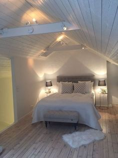 Awesome Attic Bedroom Ideas Cozy Attic Bedroom Grey Source by The post Attic Bedroom Grey appeared first on Susannah Kenny Interiors. Attic Bedroom Decor, Attic Master Bedroom, Attic Bedroom Designs, Attic Bedrooms, Attic Design, Budget Bedroom, Gray Bedroom, Bedroom Loft, Bedroom Ideas