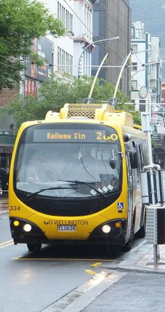 Electric trolleybuses serve most major bus routes in Wellington, supplemented at peak by diesel buses - NZ