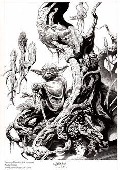 Way cool Swamp Dweller- Ink by andybrase.deviantart.com