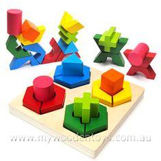 Geometric 3D Shape Building Puzzle $19.95
