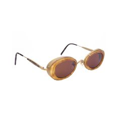 1980s Matsuda Amber Sunglasses | From a collection of rare vintage sunglasses at https://www.1stdibs.com/fashion/accessories/sunglasses/