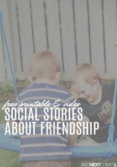 Looking for a social story about being a good friend? Try one of these free friendship skills social stories for kids! Social Skills Lessons, Social Skills Activities, Teaching Social Skills, Educational Activities For Kids, Autism Activities, Social Emotional Learning, Is My Child Autistic, Children With Autism, Friendship Activities