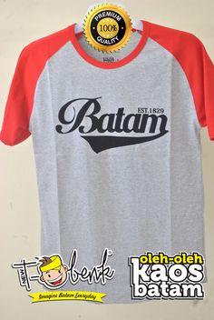 Batam Raglan Merah • Premium Quality • IDR 159000 • Official T-Shirt Merchandise from Batam City