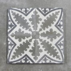 19th C. Colored Cement Tile