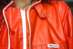 Red Leather, Leather Jacket, Rain Jacket, Windbreaker, Fashion, Outdoor Activities, Jackets, Studded Leather Jacket, Moda