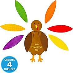 Amazon.com Festive Fall Thanksgiving Party Turkey Craft Kit Activities Paper Pack  sc 1 st  Pinterest & Crate \u0026 Barrel Turkey 9\
