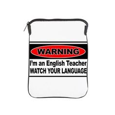 English Teacher iPad Sleeve