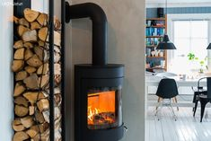 Bilderesultat for kalkmaling brannmur Home Reno, Cosy, My House, Home Appliances, Windows, Living Room, Interior Design, Decor, Rooms