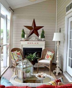 Our Summer Porch Porch Decorating, Decorating Your Home, Diy Home Decor, Furniture Ads, Cheap Furniture, Furniture Online, Porch Styles, Bird Houses Painted, Painted Birdhouses