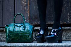 #fashion #shoes Plaid shirt or skirt? | The Blonde Salad