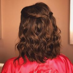 Elegant Wedding Hair, Short Wedding Hair, Long Bob Haircut With Layers, Easy Hairstyles, Wedding Hairstyles, Cabello Hair, Hair Essentials, Pinterest Hair, Hair Shows