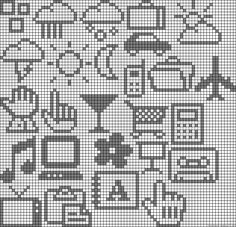 Small perler bead patterns Lena says : up for the challenge Tiny Cross Stitch, Beaded Cross Stitch, Cross Stitch Charts, Cross Stitch Designs, Cross Stitch Embroidery, Cross Stitch Patterns, Perler Bead Art, Perler Beads, 8bit Art