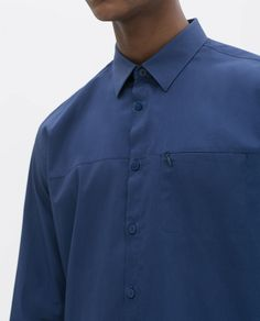 Image 5 of POPLIN SHIRT WITH ZIPPED POCKET from Zara