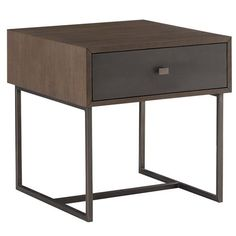 Constructed from teak veneer and metal Furniture, Modern Classic, Tall End Tables, Table, Furniture Collection, End Tables, End Table Sets, End Tables With Storage, Home Decor Shops