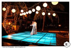 Ciara..check this out!  Lighted dance floor for a beach side wedding....love it