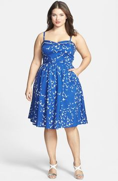 City Chic 'Seaside' Fit & Flare Dress (Plus Size) available at #Nordstrom