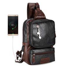 aa241ae769b4 VICUNA POLO Men Sling Backpack Antitheft External USB Charge Men Crossbody  Bag Large Capacity Casual Travel
