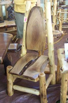 handmade walnut log table | View More About Walnut Stump Dining Table
