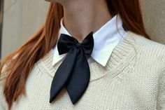 Love these bows for a preppy look! Preppy Outfits, Preppy Style, Style Me, Summer Dresses 2014, Women Wearing Ties, Look Fashion, Womens Fashion, Women Ties, Tie Styles