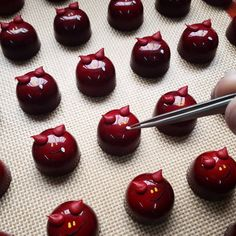 Spooky chocolate from EC grad Giorgio Demarini of Roselen Chocolatier - love this picture as a demonstration of the craftsmanship chocolatiers put into their work! Placing sesame seed teeth by hand!