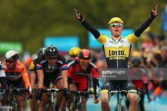 Moreno Hofland of The Netherlands and Team LottoNL-Jumbo celebrates winning stage 2 of the Tour de Yorkshire from Selby to York on May 2, 2015 in York, England.