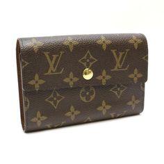 Louis Vuitton Portefeuille Alexandra  Monogram Wallets Brown Canvas M60047