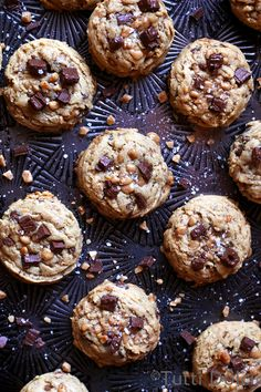 Peanut Butter Toffee Chocolate Cookies