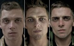 Photographer Lalage Snow takes pictures of soldiers' faces before, during and after the war in Afghanistan. (I know I've posted these before, but the contrast just gets to me every time I see it.)