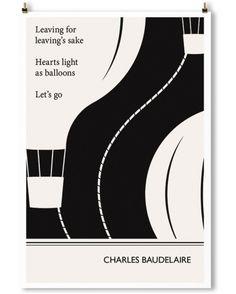 """ROAD"" Art Print, Baudelaire Quote"