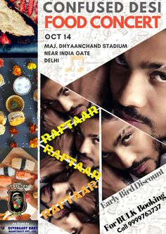 #CONFUSED #DESI #FOOD #CONCERT - OCT 14 / #DELHI #RAFTAAR  + OTHER #MUSIC #DANCE #ARTISTS + 40 FOOD STALLS + 1 MEGA SURPRISE #AUDIENCE #PACKAGE #SILVER + #GOLD + #VIP PASSES NOW ON SALE ! EARLY BIRD #DISCOUNTS #AVAILABLE  #BULKDISCOUNT ALSO AVAILABLE ! CALL 9999763737