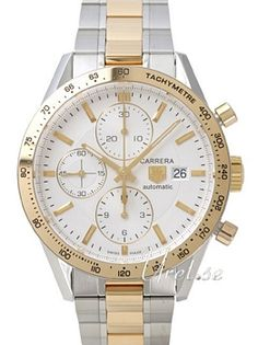 Buy TAG Heuer Carrera Calibre 16 Automatic Chronograph Silver carat yellow gold mm,model with TheWatchAgency™. Tag Heuer Carrera Calibre, Chronograph, Gull, Watches, Silver, Stuff To Buy, Accessories, Wrist Watches, Wristwatches