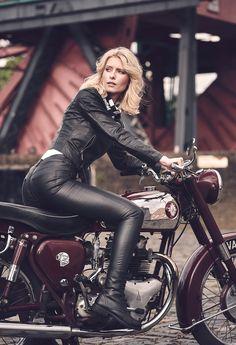Busty redhead biker babes seems