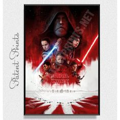 Тhe Last Jedi Star Wars Poster Star Wars Prints, Star Wars Poster, Star Wars Tshirt, Last Jedi, Daisy, Stars, Canvas, Perspective, Artist