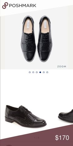 Cole Haan Oxford shoes Black, sz 7.5 Tire to size, with fine details.