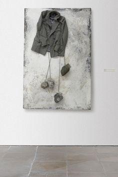 plague 36, 2014, mixed media / osb board 150x100 cm by łubkowski
