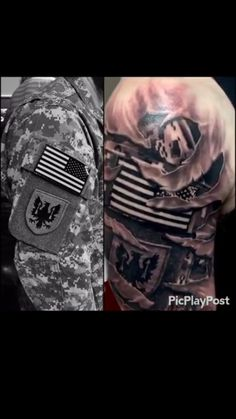 Very well done Spouse Tattoos, Army Tattoos, Military Tattoos, Dad Tattoos, Great Tattoos, Future Tattoos, Body Art Tattoos, Sleeve Tattoos, Tatoos