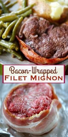The classic Bacon-Wrapped Filet Mignon is easier to make than you might think! A truly delicious and EASY dinner that anyone can prepare! Great for special occasions and holidays! Bacon Wrapped Filet Mignon Recipe, Bacon Wrapped Steak, Pork Recipes, Cooking Recipes, Recipies, Hamburger Recipes, Skillet Recipes, Healthy Recipes, Bacon In The Oven