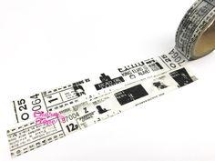 Black & White newspaper inspired Washi Tape 15mm x 10 meters WT311