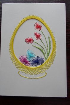 Paper Embroidery Tutorial, Embroidery Cards, Christmas Embroidery Patterns, Basic Embroidery Stitches, Embroidery Patterns Free, Hand Embroidery Designs, Paper Piecing Patterns, Card Patterns, Craft Presents