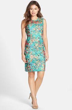 Alex Evenings Floral Lace Sheath Dress | Nordstrom